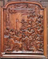 Cathédrale Notre-Dame de l'Assomption - chapelle Saint-Austremoine (Confirmation, panneau en bois sculpté, XVIIe s.)