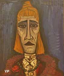 Tête de travesti (Bernard Buffet - Musée d'art Roger-Quilliot)