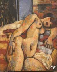Nu à la toilette (Paul Rebeyrolle - Musée d'art Roger-Quilliot)