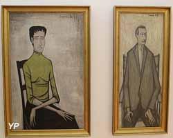 Portraits de Simone et Maurice Combe (Bernard Buffet - Musée d'art Roger-Quilliot)