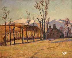 Le Sancy enneigé, vu depuis Saint-Sauves (Armand Guillaumin - Musée d'art Roger-Quilliot)