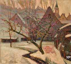 Neige à Murol(s) (Victor Charreton - Musée d'art Roger-Quilliot)