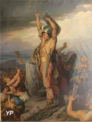 Vercingétorix appelant les Gaulois à la défense d'Alaise (Alexandre-Hyacinthe Dunouy - Musée d'art Roger-Quilliot)