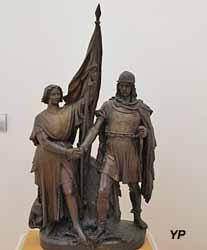 Jeanne d'Arc et Vercingétorix (Emile-François Chatrousse - Musée d'art Roger-Quilliot)