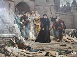 Une porte du Louvre le matin de la Saint Barthélémy (Edouard Debat-Ponsan - Musée d'art Roger-Quilliot