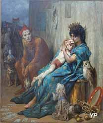 Les saltimbanques (l'enfant blessé) (Gustave Doré - Musée d'art Roger-Quilliot) (Yalta Production)