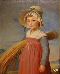 La petite glaneuse. Portrait de Jeanne Orine à l'âge de cinq ans (Thomas Degeorge - Musée d'art Roger-Quilliot)