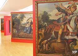 Roland furieux, tapisserie pour la galerie d'apparat du château d'Effiat (anonyme - Musée d'art Roger-Quilliot