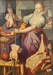 Jésus chez Marthe et Marie (Joachim Beuckelaer - Musée d'art Roger-Quilliot)