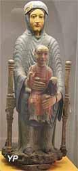 Vierge en majesté, dite Notre-Dame d'Usson (bois polychrome - Musée d'art Roger-Quilliot)