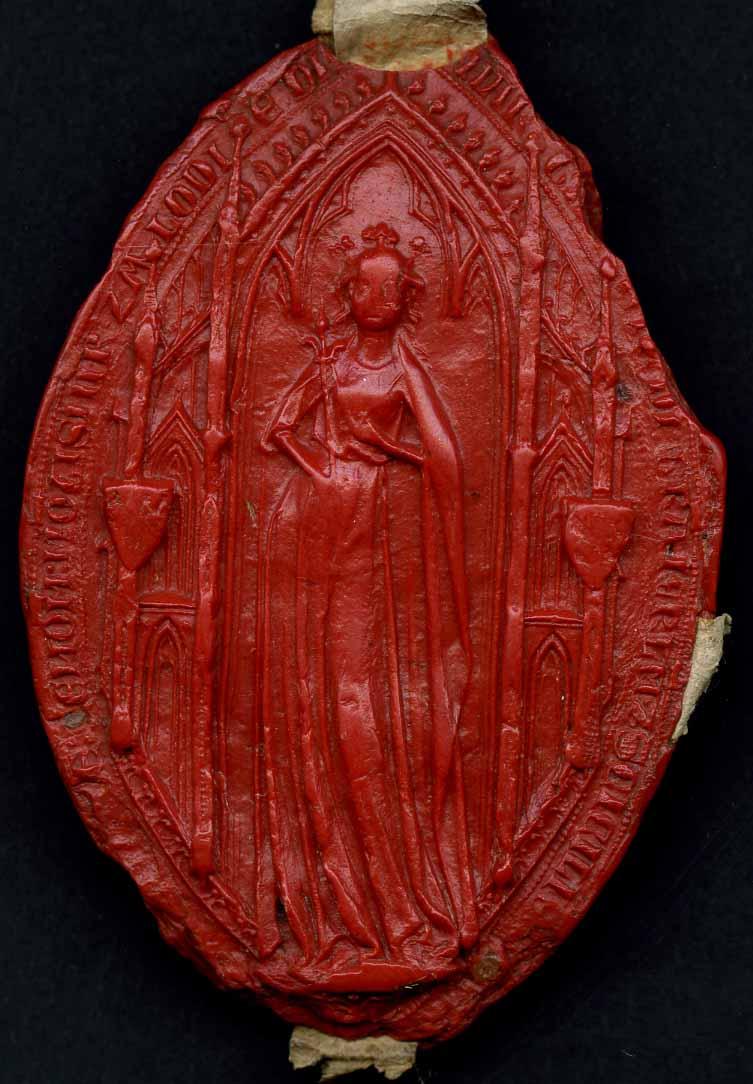 Sceau de Marguerite de Bourgogne, comtesse de Tonnerre(1292)
