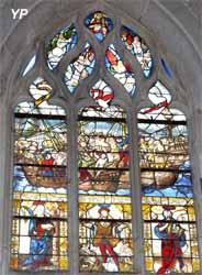 Église Saint-Martin - vitrail du combat naval