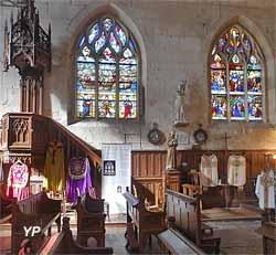 Église Saint-Martin - vitrail du combat naval (JM Le Gaffric)