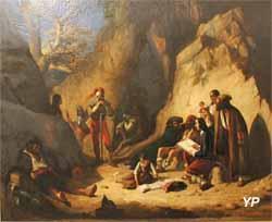 Salvator Rosa chez les brigands (Benjamin Roubaud, dit Benjamin, Musée Labenche)