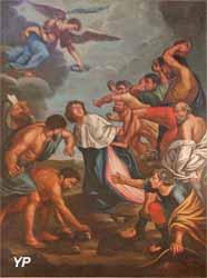 La lapidation de saint Martin l'Espagnol (XVIIIe s., inscrit ISMH 1997)