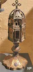 Reliquaire monstrance (cuivre doré, XVe-XVIe, MH  1951)