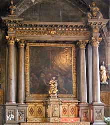 Retable de la Vierge et statue de Notre-Dame de Montluçon
