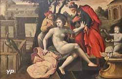 Cinq scènes de la vie de Suzanne : Suzanne est surprise par les vieillards(XVIe s.)