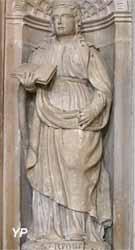 Retable de la Passion et statue de sainte Reine - statue de sainte Reine