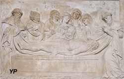 Retable de la Passion et statue de sainte Reine - Mise au tombeau