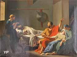 Le testament d'Eudamidas (Charles Nicolas-Lafond, XIXe s.)