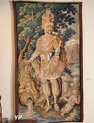 Personnification de Rome (fragment de tapisserie d'Aubusson, XVIIe s.)