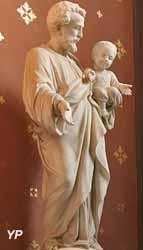 Statue de saint Joseph (marbre de Carrare, Enrico Clerici ,1896)