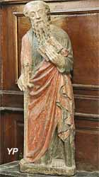Statue de saint Paul (pierre calcaire polychrome, XVe s.)