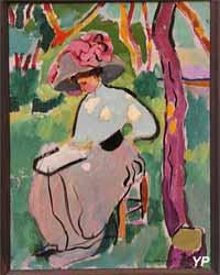 Femme au jardin (Maurice Marinot - exposition temporaire 2016)