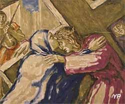 Chemin de Croix - Jésus rencontre sa très sainte Mère (Henri de Maistre, 1928)