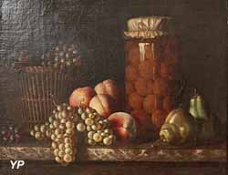Nature morte aux fruits et au bocal (Jean-Baptiste Chardin, XVIIIe s.)