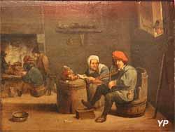 Intérieur, fumeurs et musiciens (David Teniers II, XVIIe s.)
