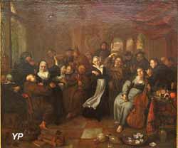 Moines et religieuses en goguette (Richard Brakenburg, XVIIe s.)