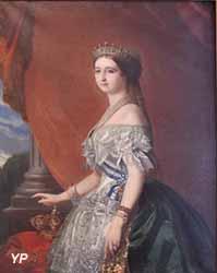 Portrait de l'impératrice Eugénie (François Aimé Ecalard, XIXe s.)