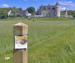 Château de Montpoupon - borne de la promenade forestière