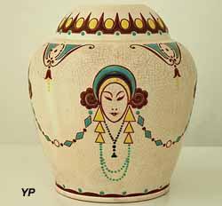 Vase en céramique craquelée