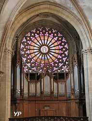 Rosace et grandes orgues