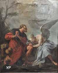 Saint Roch soigné par un ange (anonyme) - chapelle Saint-Louis