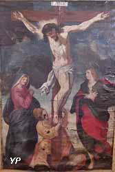 Calvaire ou sainte Marie, sainte Madeleine, saint Jean au pied de la croix (anonyme) - chapelle Saint-Louis