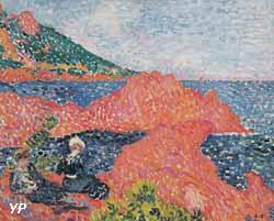Les roches rouges à Agay (Valtat L. 1903 - expo Escales méditerranéennes 2017)