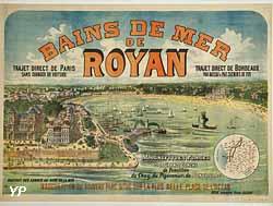Musée de Royan - Affiche bains de mer 1900