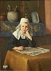 Portrait d'une jeune bretonne (Flavien-Louis Peslin, collections permanentes)