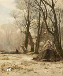 En forêt, le givre (Léon Le Goaebe de Bellée, collections permanentes)