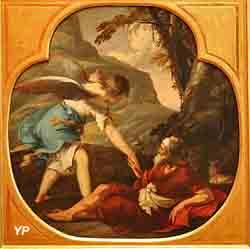 Elie nourri par un ange (Laurent de la Hire)