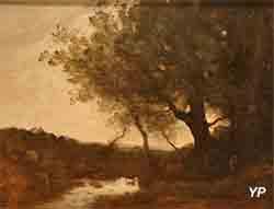 Le passage du gué, le soir (Jean-Baptiste Camille Corot)