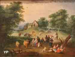 Scène champêtre, XVIIIe siècle (Théobald Michau)