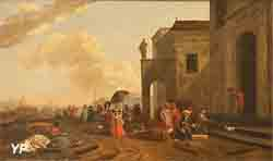 Vue d'un port (Abraham Begeyn)