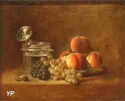 Pêches et raisins (Jean-Baptiste Siméon Chardin)