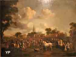 Collection de Robien - La foire aux chevaux de Valkenburg (Pieter Wouwerman)