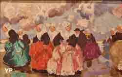 Femmes de Plougastel en costume de fête (Jean-Julien Lemordant)